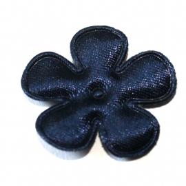 25mm satijn bloem navy