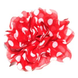 10cm felroze rode dot bloem