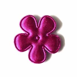 Satijnbloem neon paars 25mm