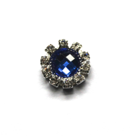 Strass flatback 14mm cobalt
