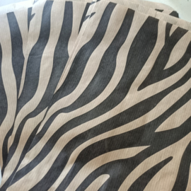 Kado zakje kraft zebra 17,5x25cm