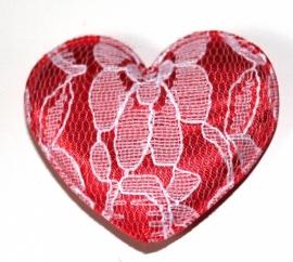 XL hart rood (5cm)