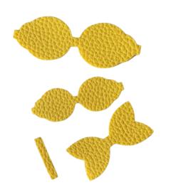 DIY strikje geel (4 *2cm)