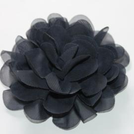 12 cm chiffon bloem navy