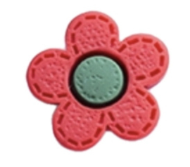 flatback bloem rood groen