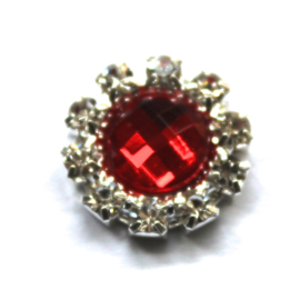 Strass flatback 14mm rood