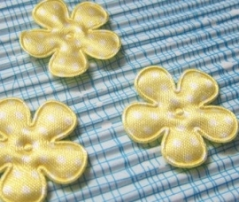 25mm bloem geel polkadot
