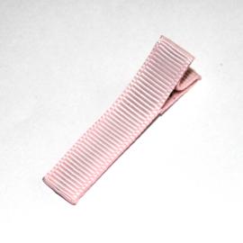 Alligator clip bekleed met licht roze lint