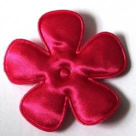 47mm Fuchsiaroze satijn bloem