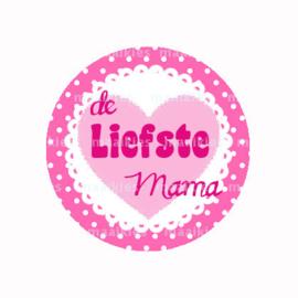 (FB613) Liefste mama roze hart