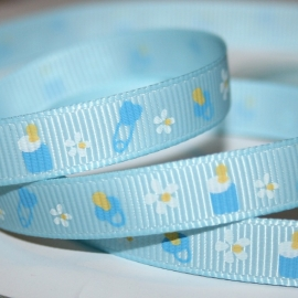 10mm blauw baby grosgrain geweven band 4m