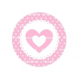 (FB348) hartje dot roze