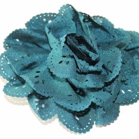 Bloem met gaatjes teal ( groen/blauw) 7cm