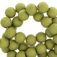Acryl kralen 6mm olijf groen 50 stuks