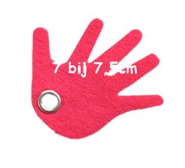 vilten sleutelhanger  hand ( 31 kleuren)