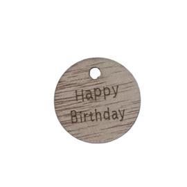 label hout Happy birthday