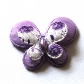 stoffen dubellaagse vlinder paars