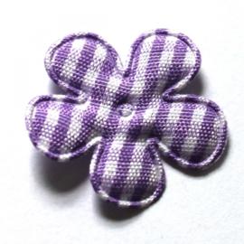 25mm ruit bloemen lila 50 stuks