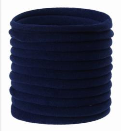 Super soft dunne nylon haarbandje navy