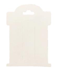 knip strik kaartje wit 10 stuks