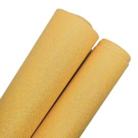 mooi lapje fijn glitter imitatie leer donker geel