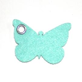 vilten sleutelhanger vlinder (31 kleuren)