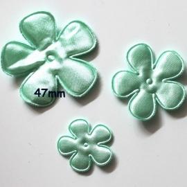 47mm satijn bloem mint