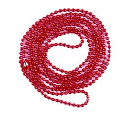 Bolletjes ketting met sluiting rood (fijn)