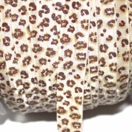 Haarband elastiek glitter Leopard