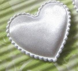 Satijn hart wit