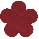 Acryl vilt gemeleerd rood 45cm bij 30cm