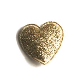 glitter hartje goud 2cm