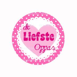 (FB612) Liefste oppas roze hart