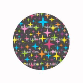 FB734 regenboog sterren zwart