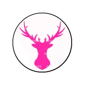 FB784 deer fuchsia roze