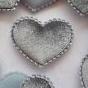 Fluweel hart grijs