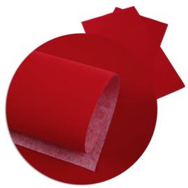 lapje fluweel rood a4