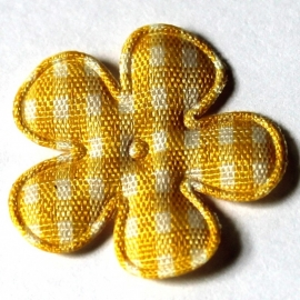 25mm ruit bloem geel 10 stuks