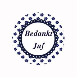 (FB811) BEDANKT JUF NAVY BLOEM