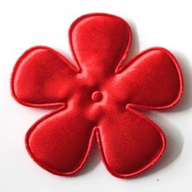 65mm satijn bloem rood