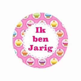 FB426 IK ben jarig cake roze
