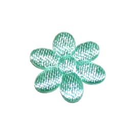 1 mini bloemetjes satijn mint (10mm)