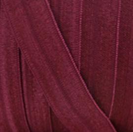 bordeaux Haarband elastiek / biasband 15mm breed