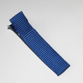 Alligator clip bekleed met Royal blauw grosgrain lint