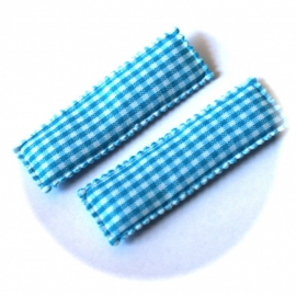 Kniphoesjes blauw ruit 1 stuks
