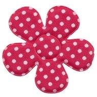 Polkadot bloem fuchsia 47mm