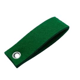 Sleutelhanger vilt dubbele rechthoek emerald groen  (25)