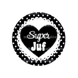 (FB799)super juf zwart hart