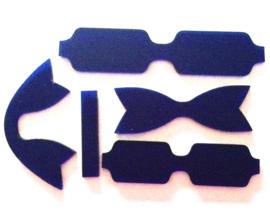 Kunststof strikken mal (7cm breed) Style D