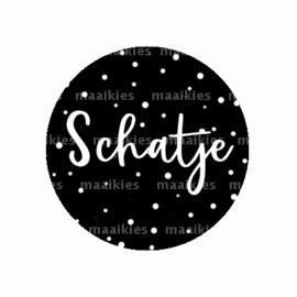 (FB802) SCHATJE ZWART